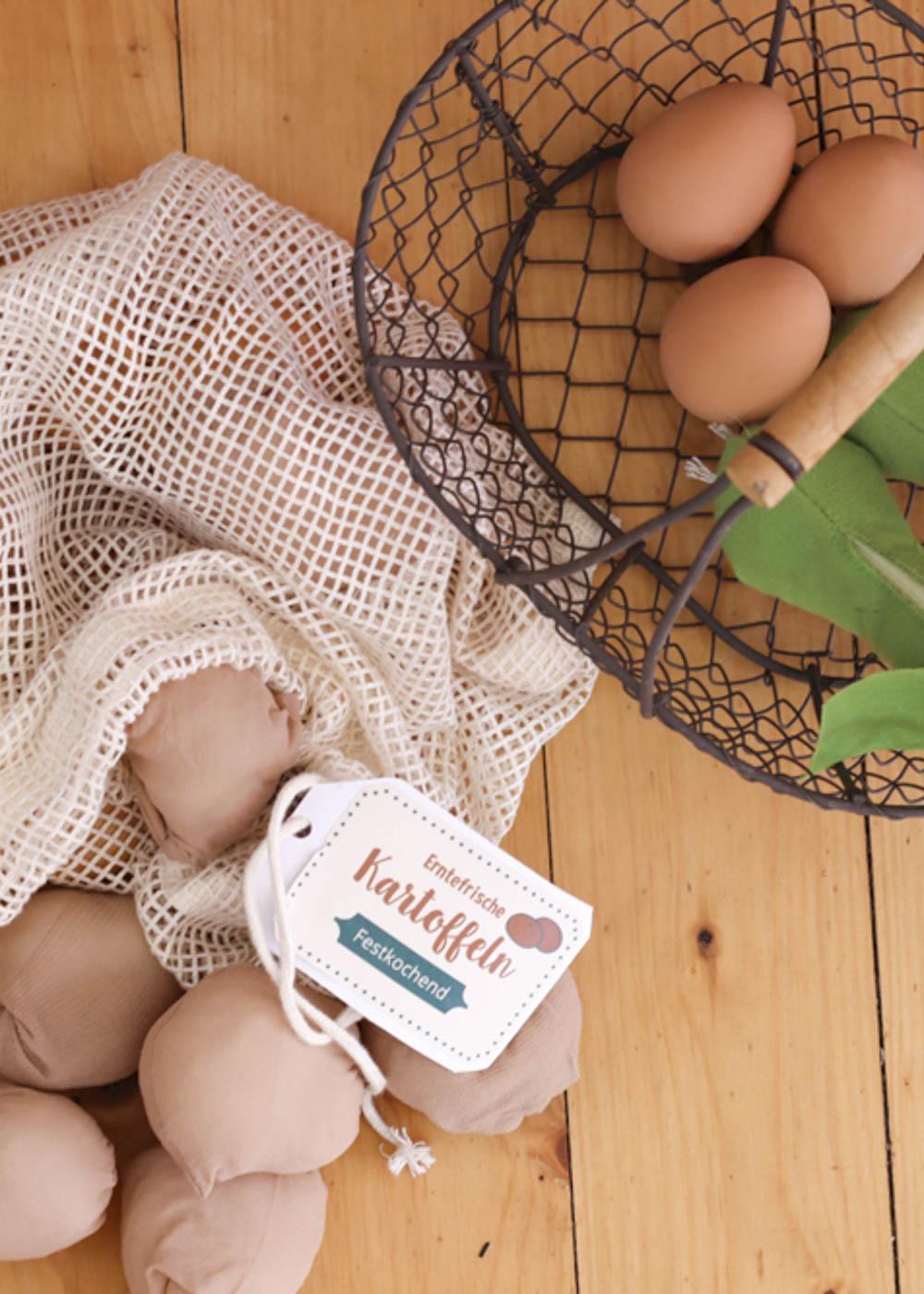 Stickerset Kinderküche Kaufladen Zubehör Läcker Kartoffeln