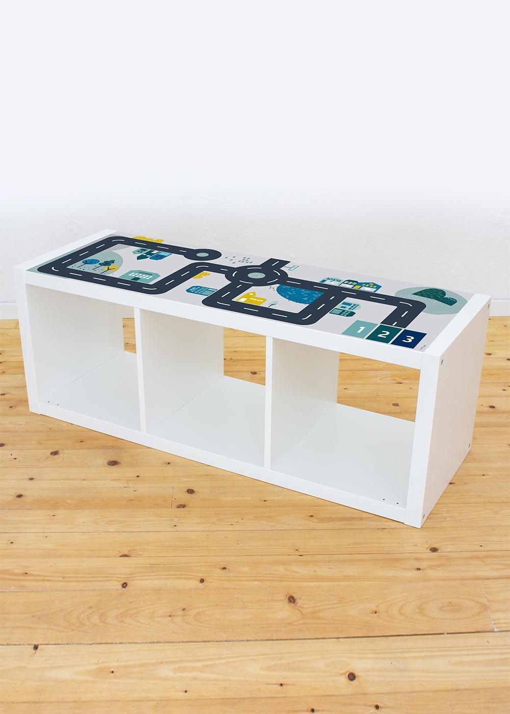 Ikea Kallax Regal Smastraat 3fach Komplettansicht
