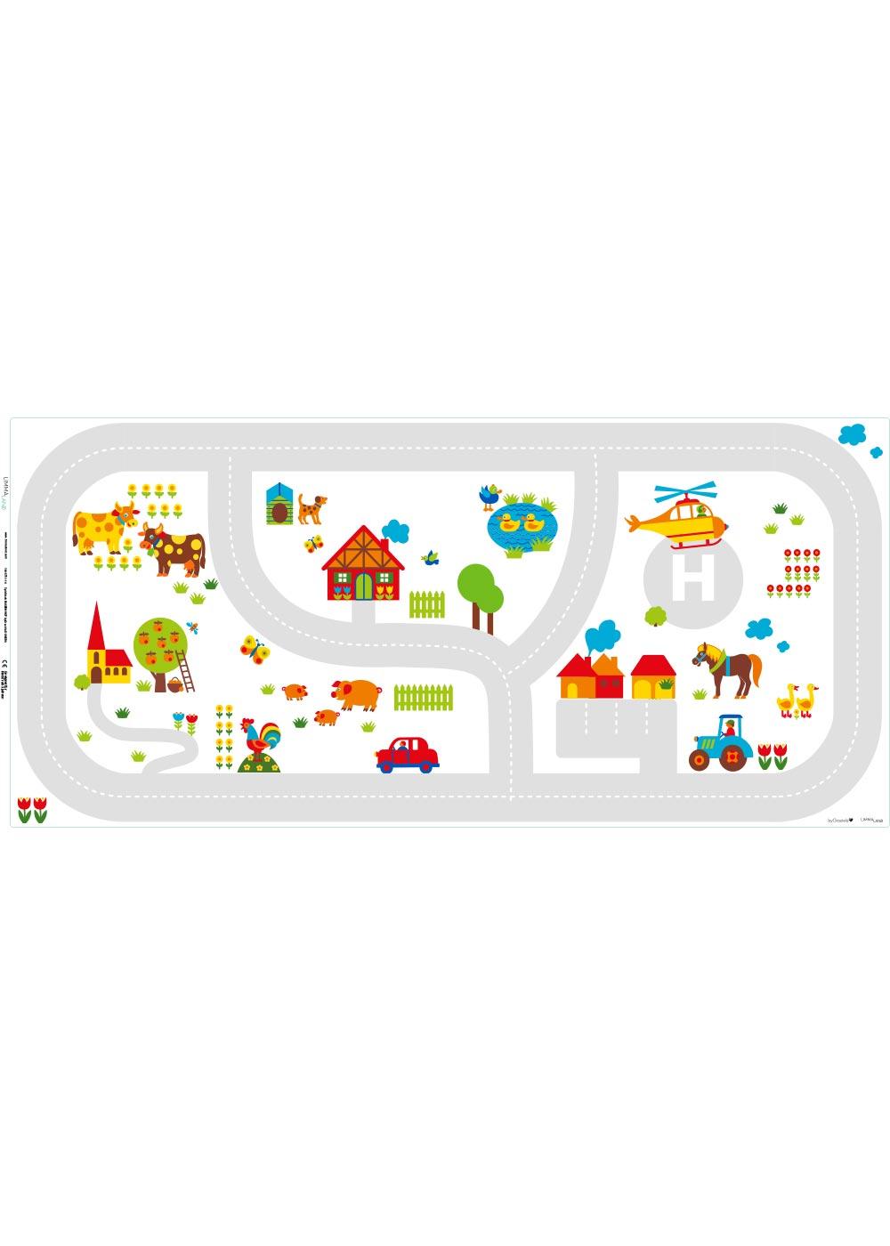 Ikea Dundra Spieltisch ByGraziela Bauernhof Druckvorlage