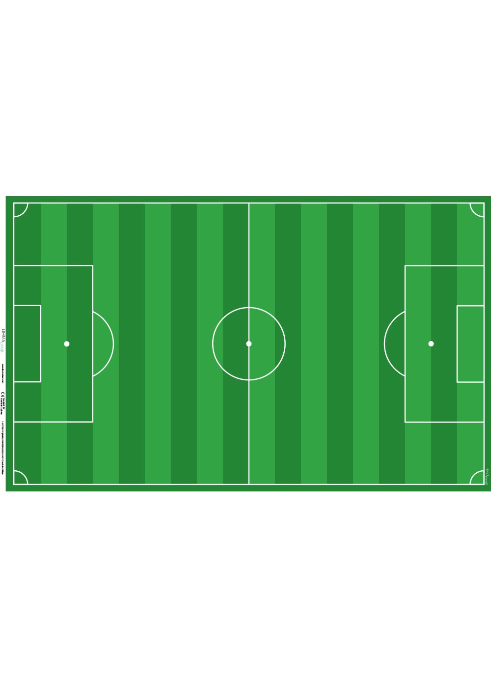 Ikea Lack Couchtisch Fußballfeld grün 78x118 Druckvorlage