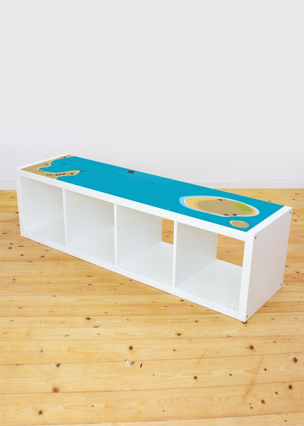 Ikea Kallax Regal Wasserreich 4fach Komplettansicht