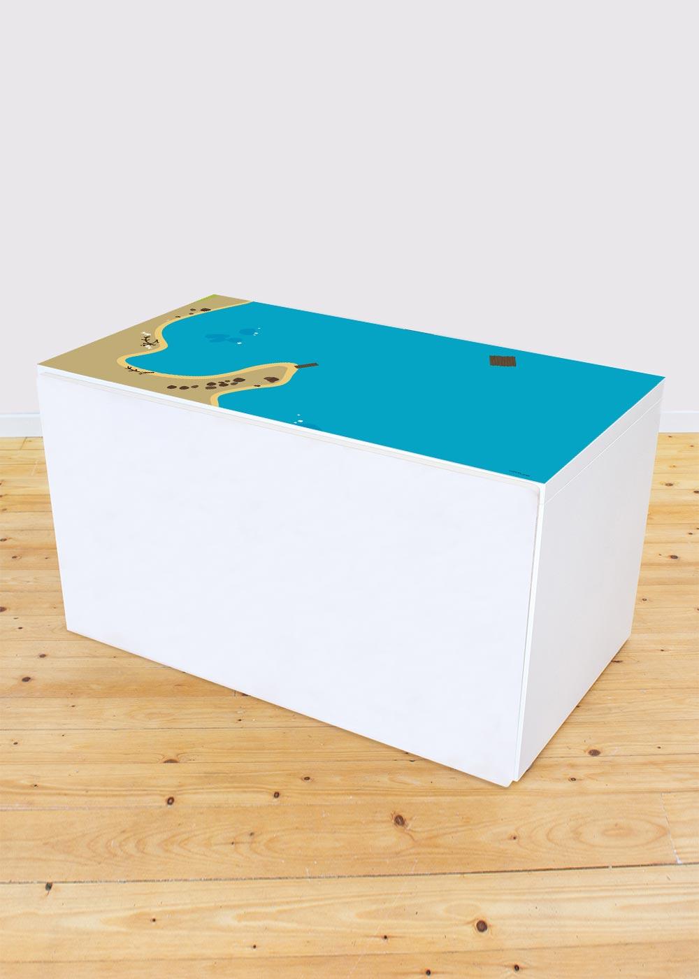 Ikea Smastad Bank Wasserreich Gesamtansicht
