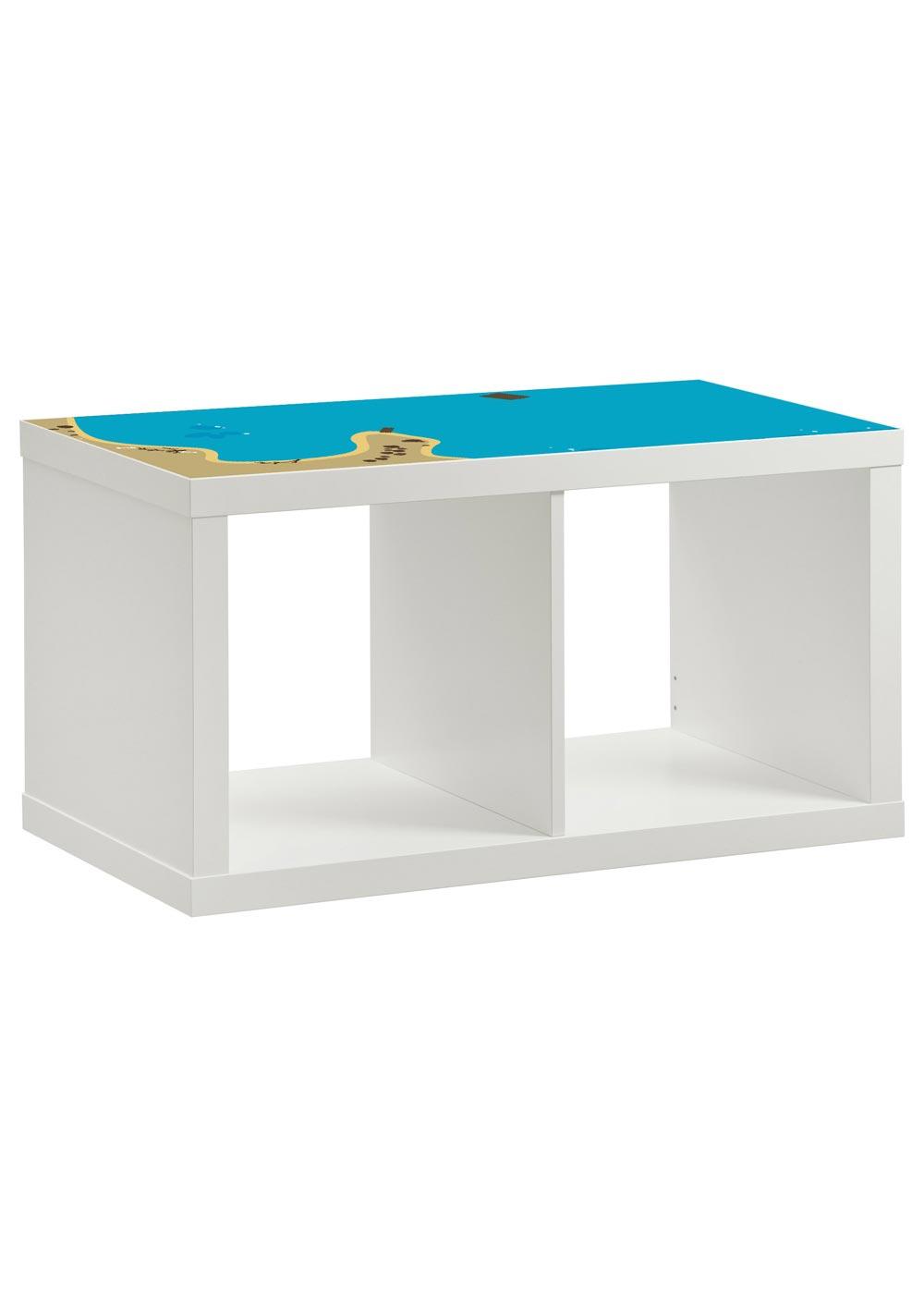 Ikea Kallax Regal Wasserreich 2fach Komplettansicht