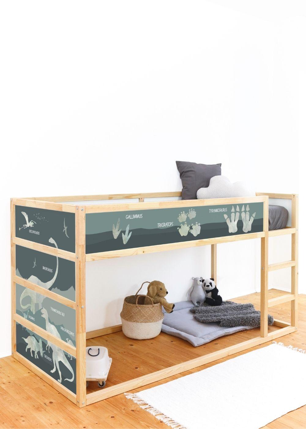 Kinderzimmer Kinderbett Dinosaurier Seitenansicht