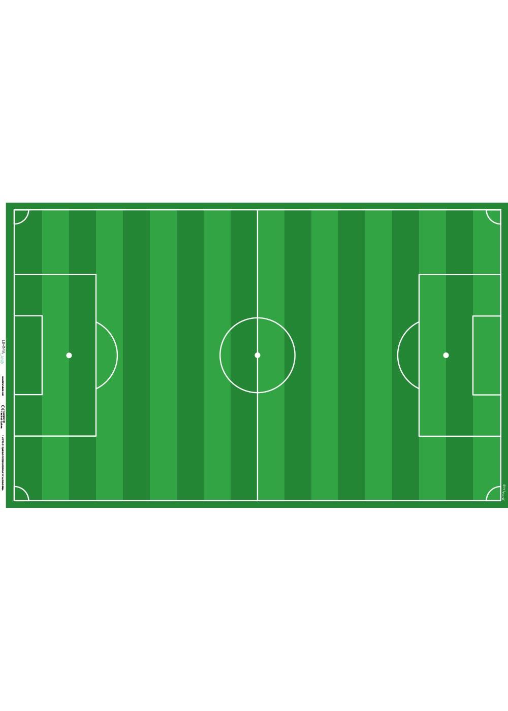 Ikea Lack Couchtisch Fußball grün 55x90 Druckvorlage