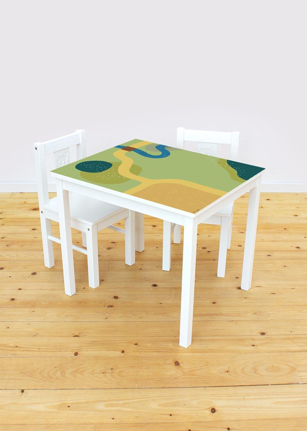Ikea Kritter Kindertisch Spielwiese Komplettansicht