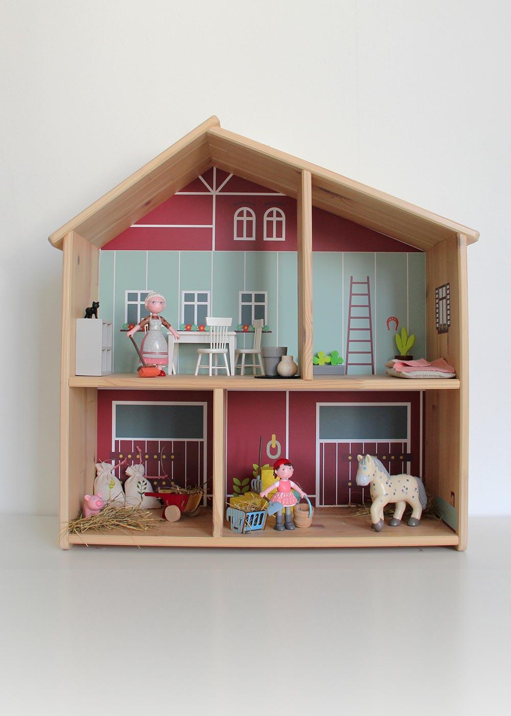 Ikea Flisat Puppenhaus Tapete Ponny Hus Komplettansicht