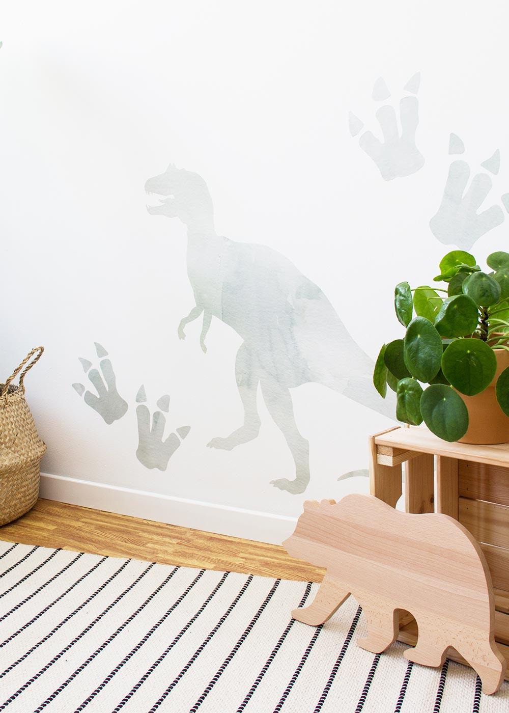 Stickerset Wand Dino Wandansicht