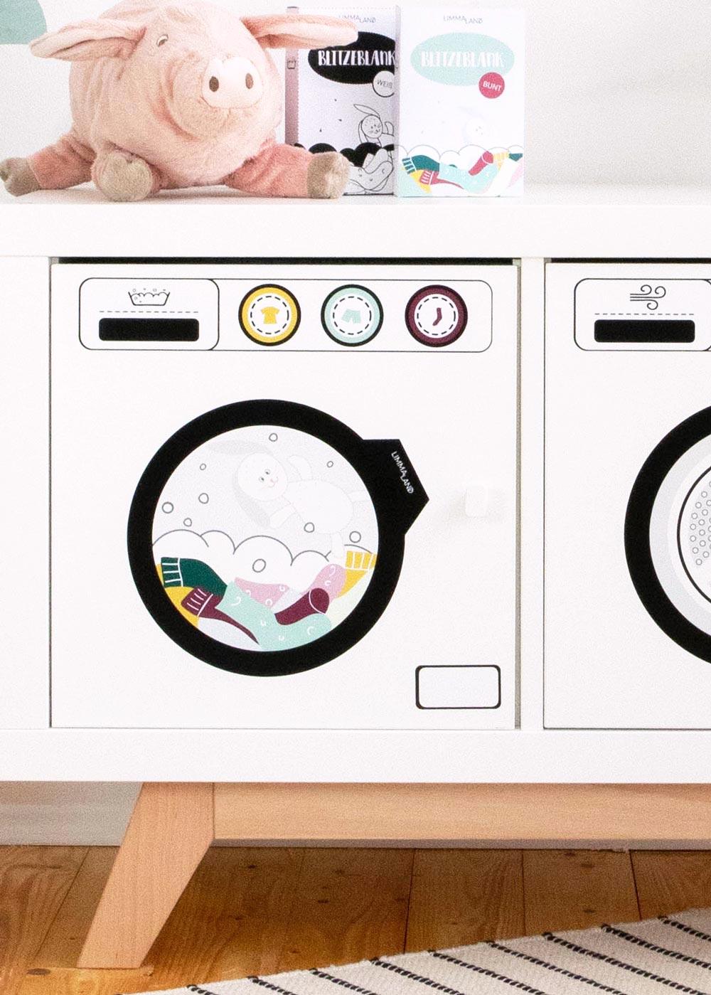 Kinderwaschmaschine Saubafix Teilansicht Waschmaschine