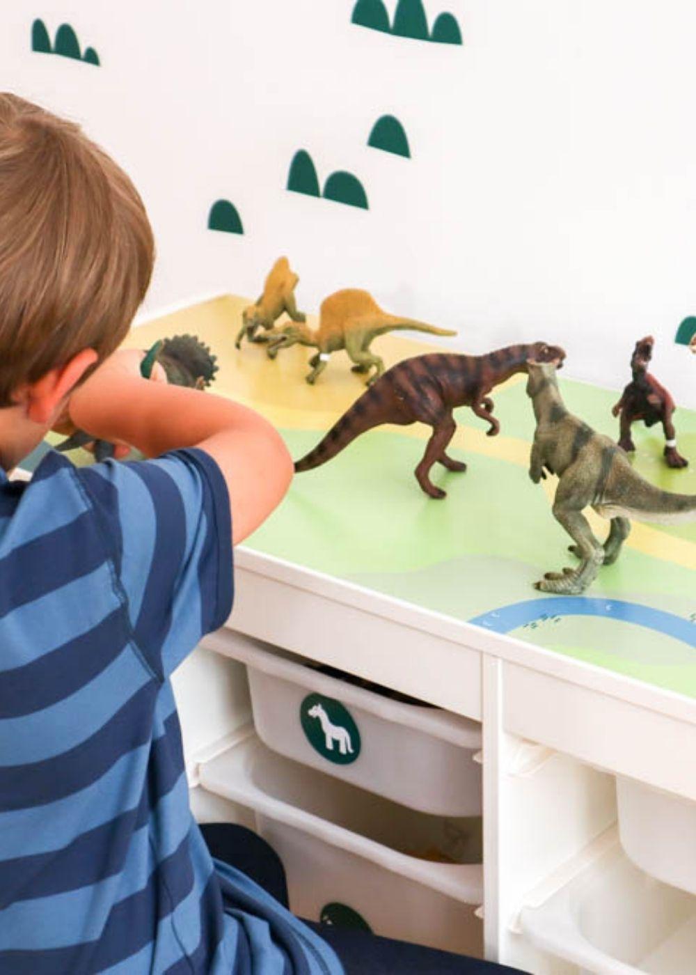 Spieltisch Ikea Kinderzimmer Dinosaurier