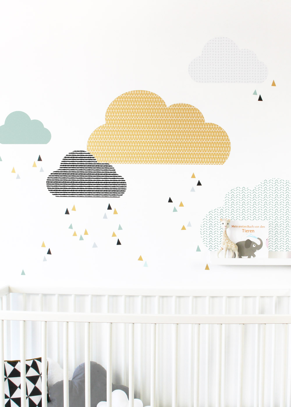 Ikea Mosslanda Bilderleiste Musta Wolken senf  mint Komplett