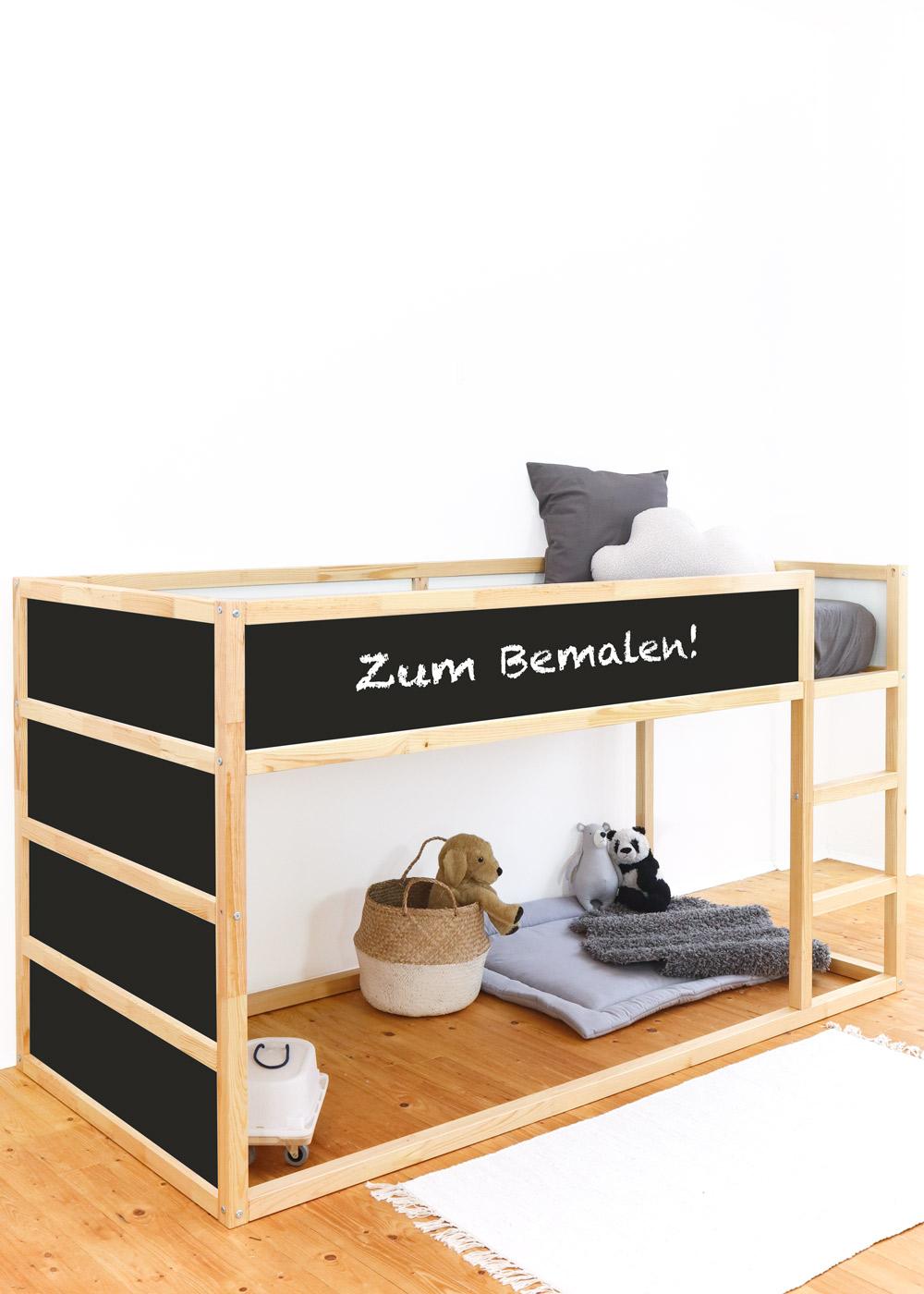 Ikea Kura Hochbett Ideenreich Tafelfolie Komplettansicht