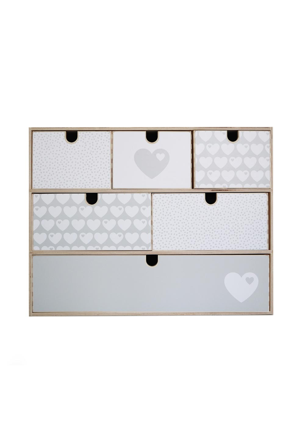Klebefolie Ikea Moppe ByGraziela grau Herz Frontansicht