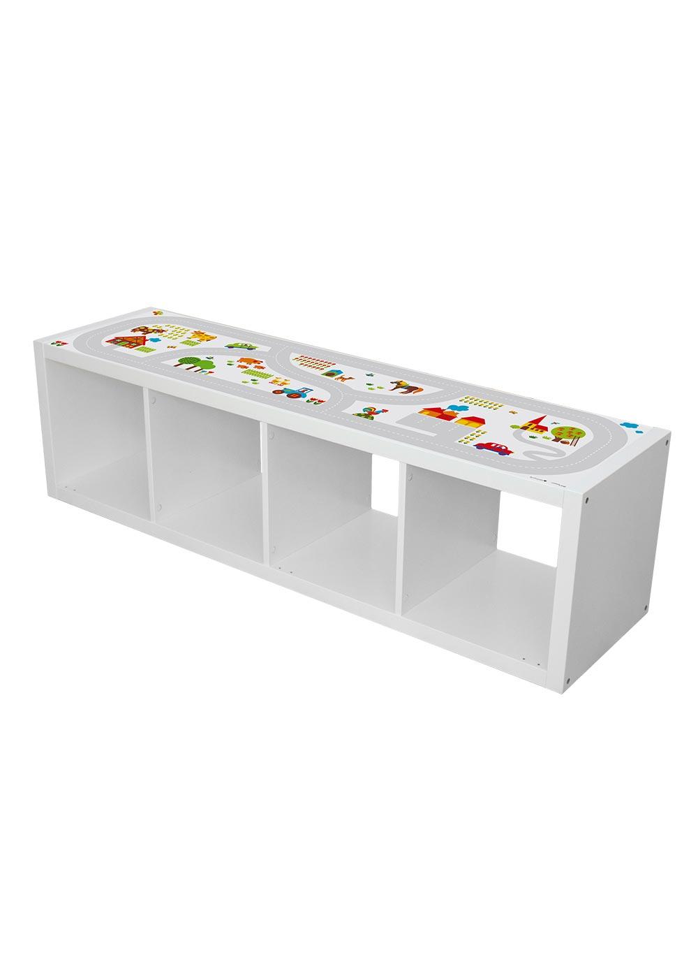 Ikea Kallax Regal ByGraziela Bauernhof 4fach  Komplettansicht