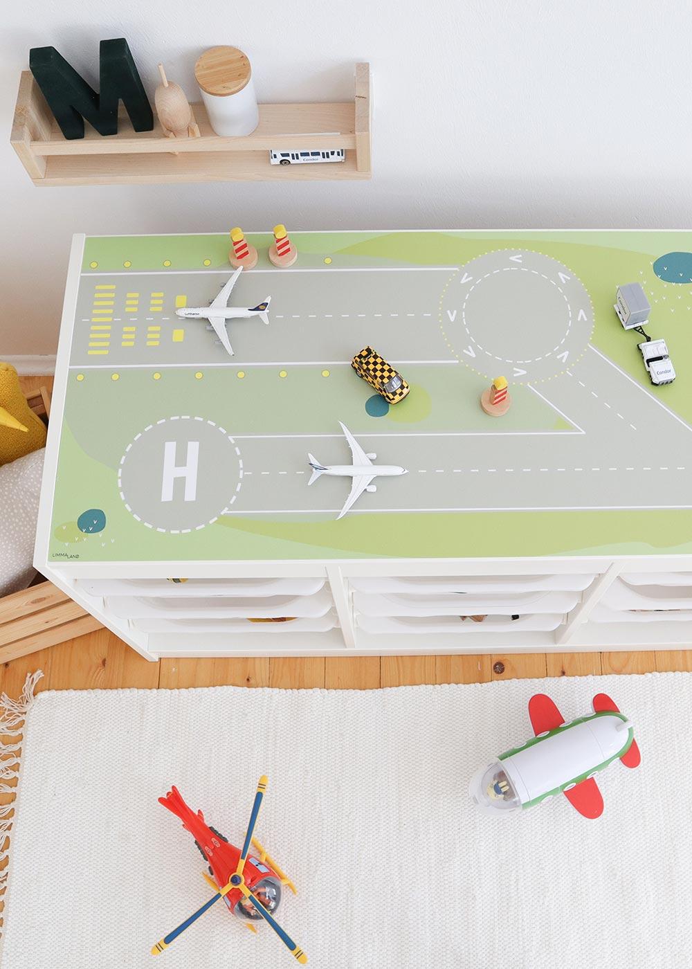 Ikea Trofast Regal Landebahn Teilansicht von oben