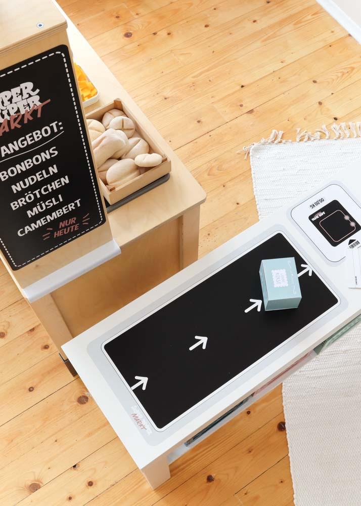Stickerset Zubehör Ikea Kaufladen Kassa schwarz Rollband