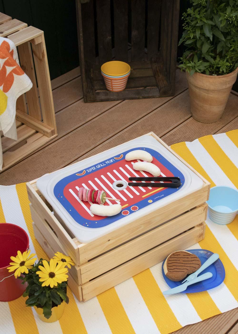 Ikea Trofast Box Kindergrill Feurig rot blau