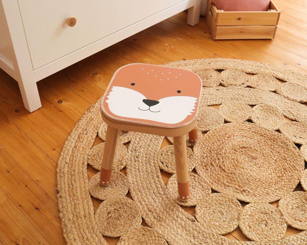 Ikea Flisat Hocker Fuchs Sticker
