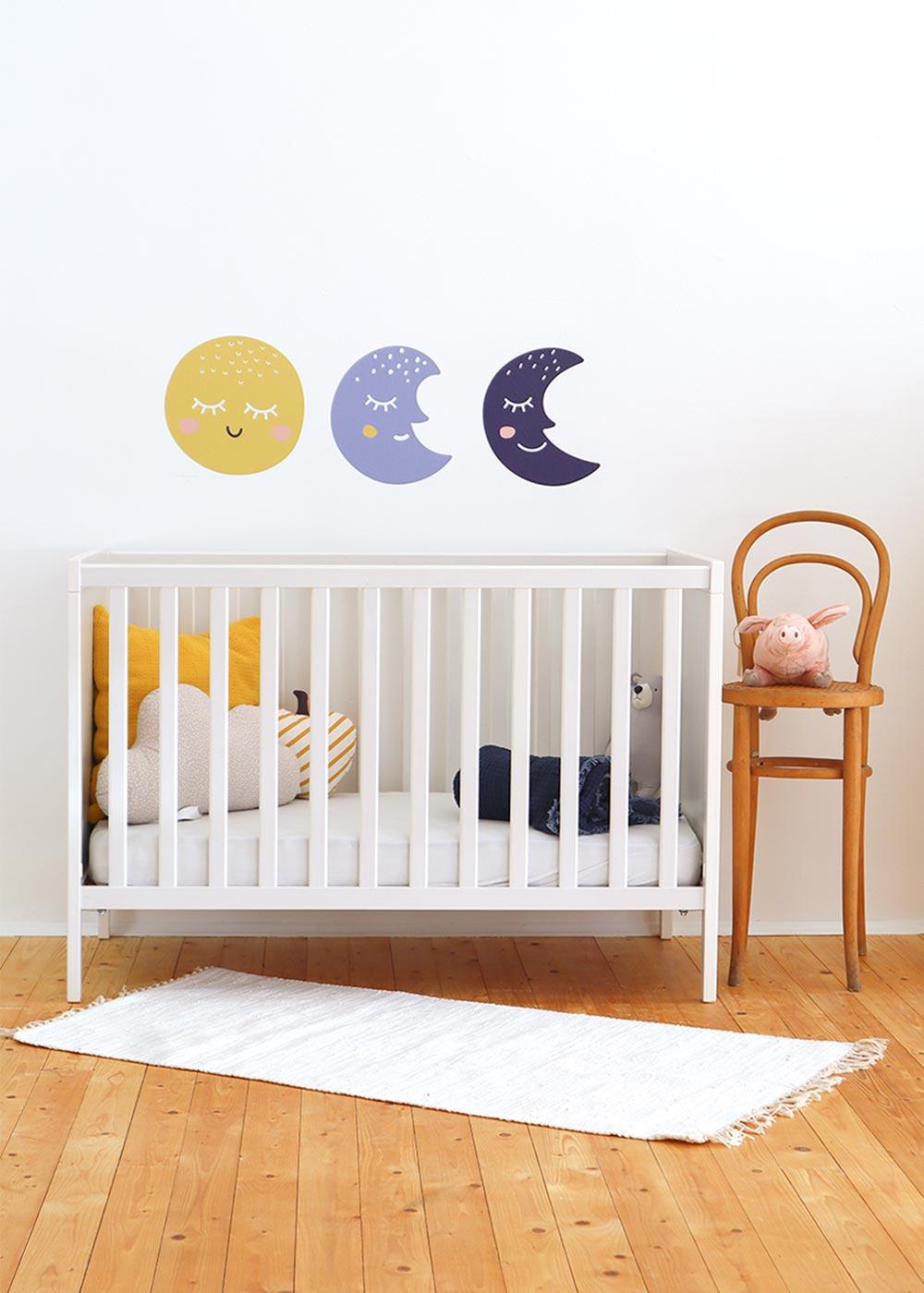Stickerset Wand Möbel Monde Godnatt