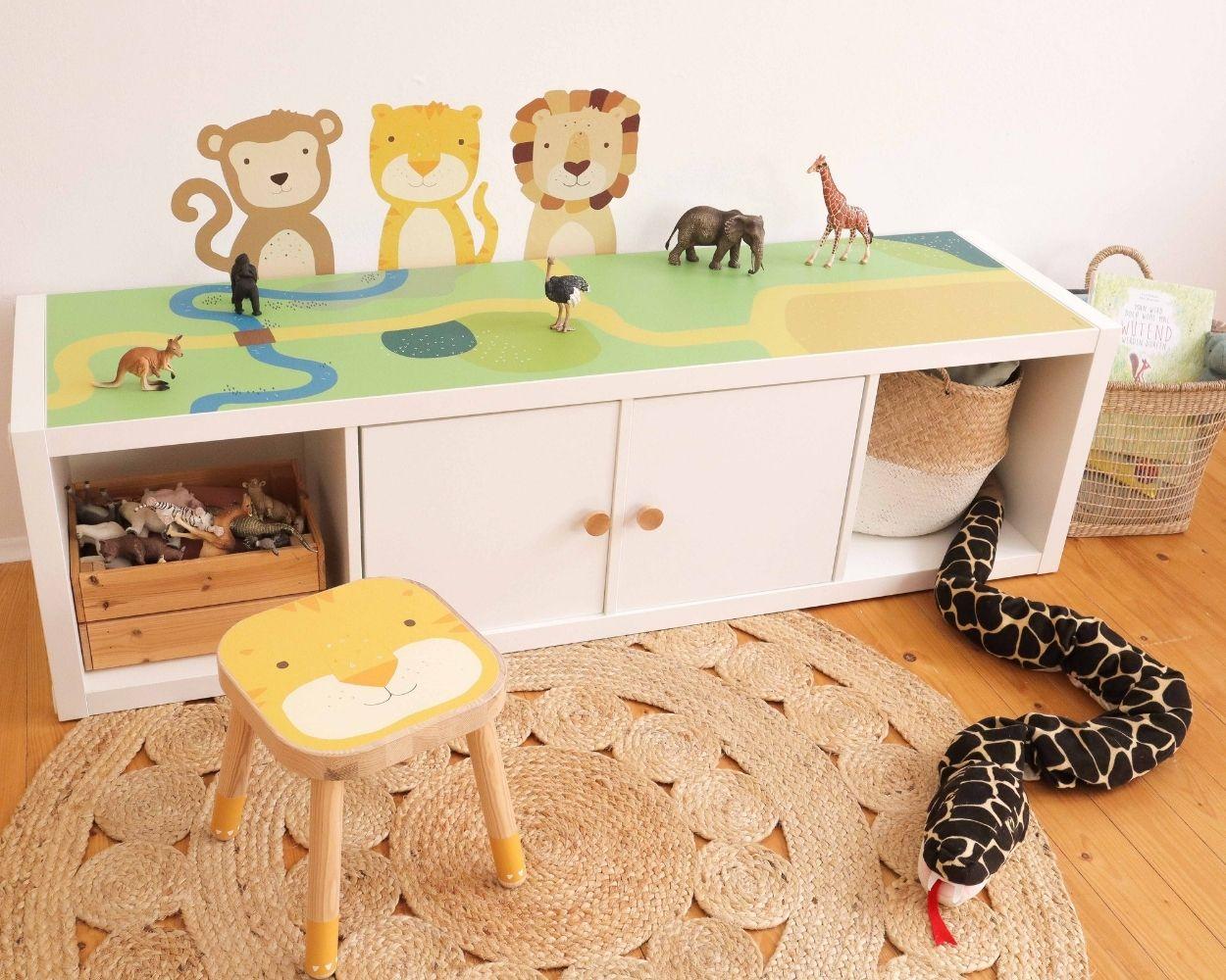 Dschungel und Safari Kinderzimmer Ikea Hacks