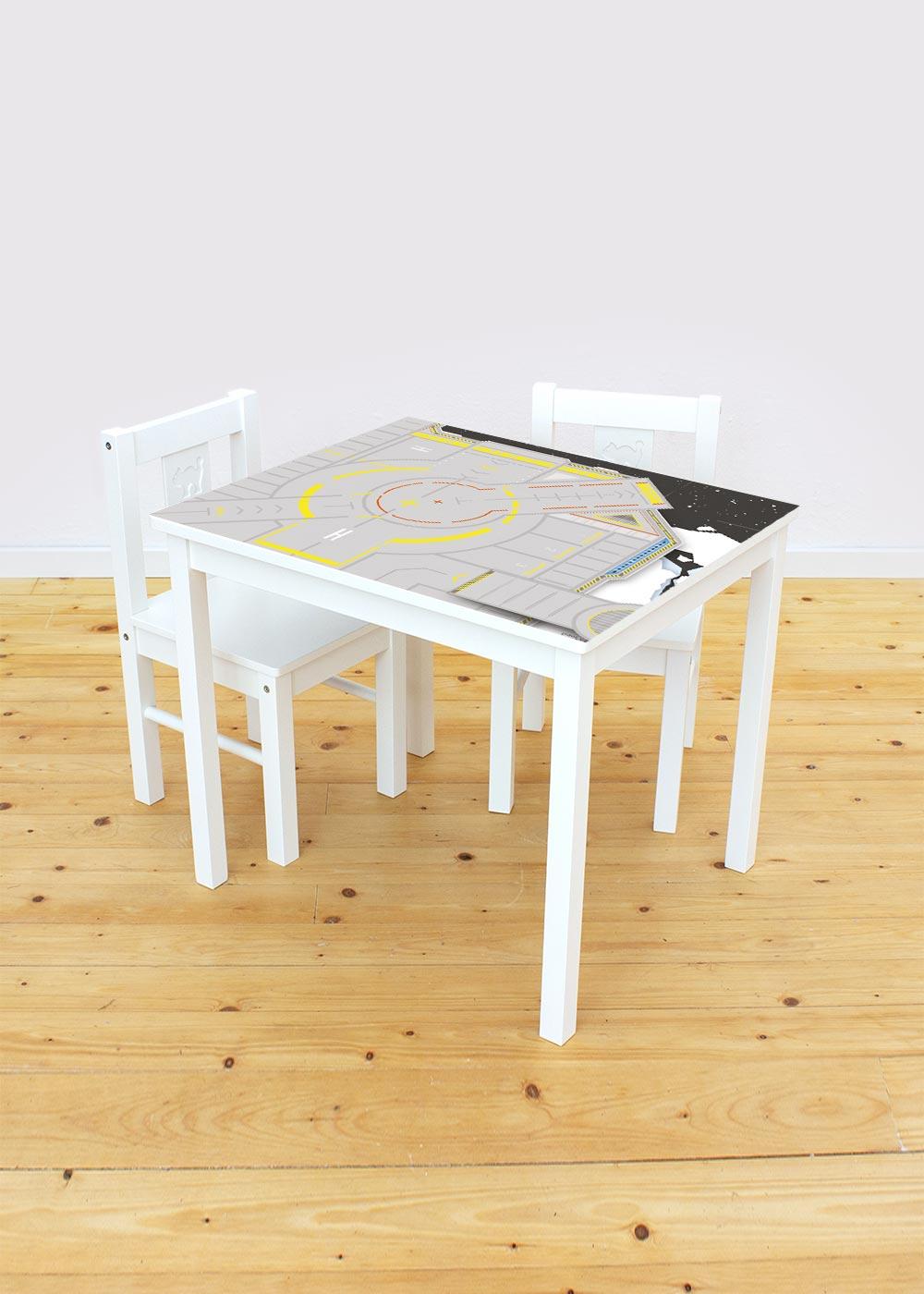 Ikea Kritter Kindertisch Weltraum mit Stühlen