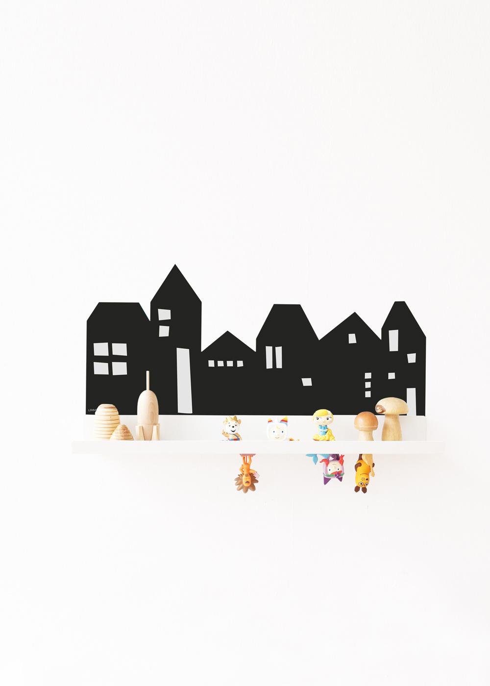 Klebefolie Malmbäck Bilderleiste Lille Hus schwarz