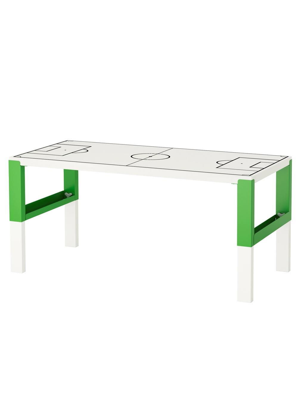 Ikea Pahl Kinderschreibtisch Fussballfeld weiss
