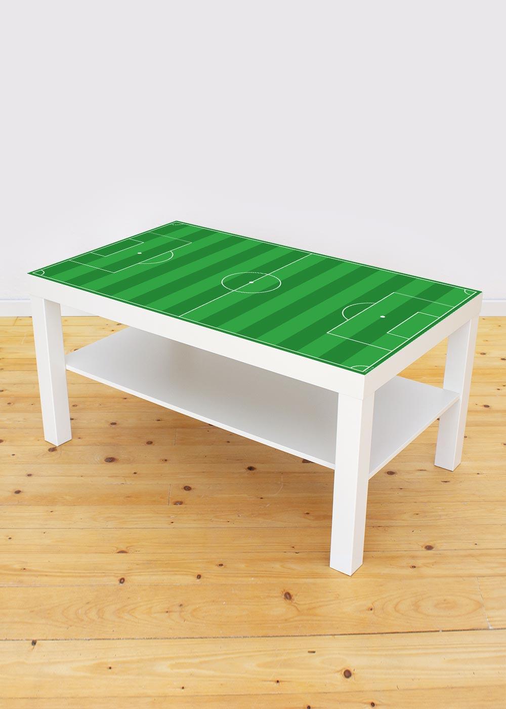 Ikea Lack Couchtisch Fußball grün 55x90 Gesamtansicht