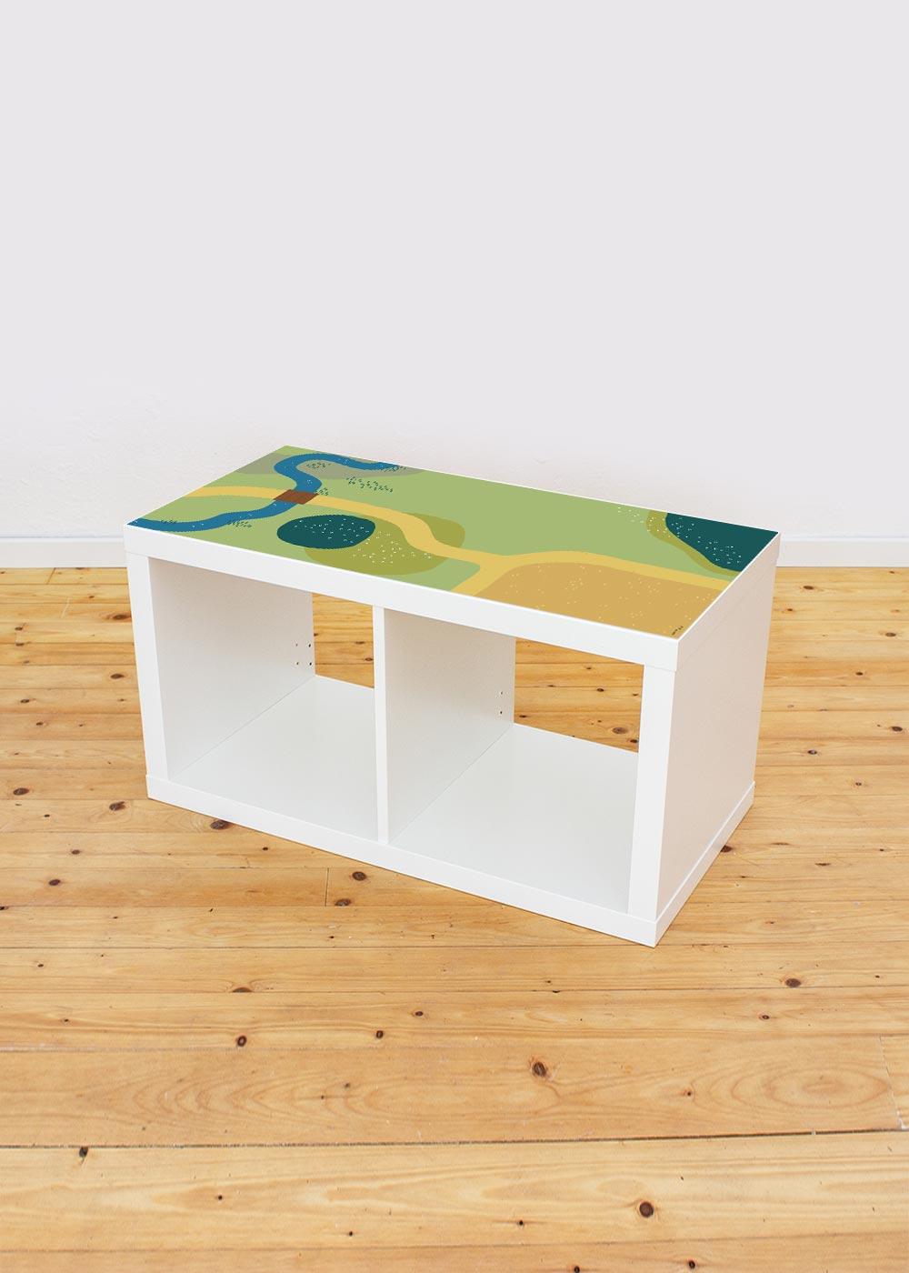 Ikea Kallax Regal Spielwiese 2fach Komplettansicht