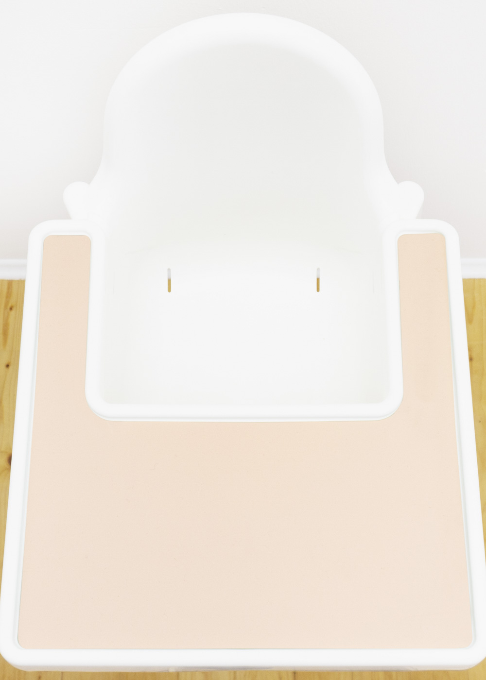 Silikonmatte Ikea Antilop Hochstuhl Klecka Mat creme Gesamtansicht oben