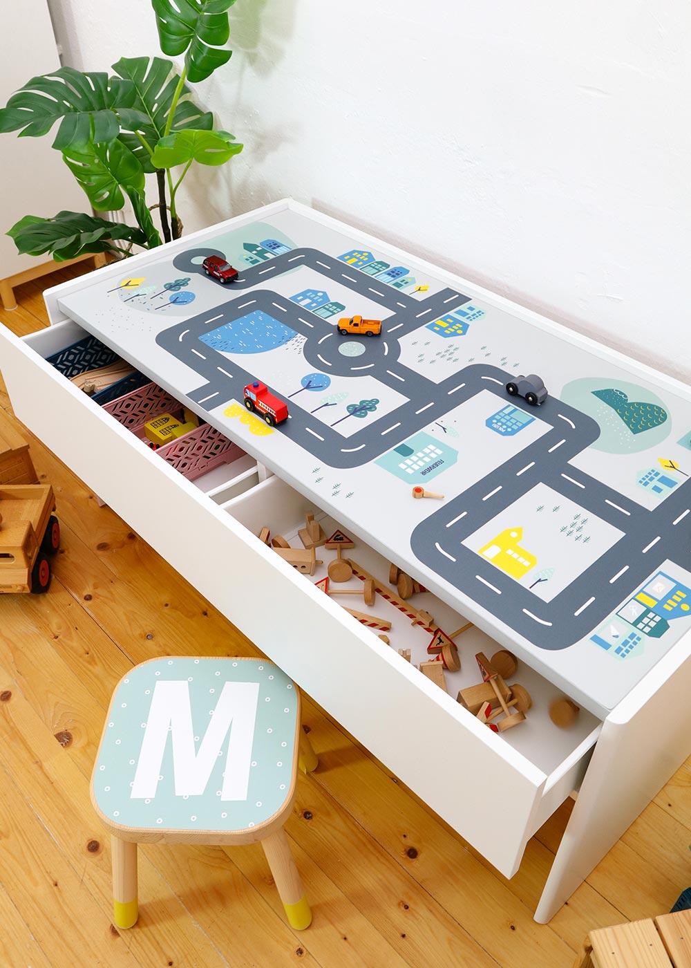 Ikea Dundra Spieltisch Smastraat Komplettansicht oben