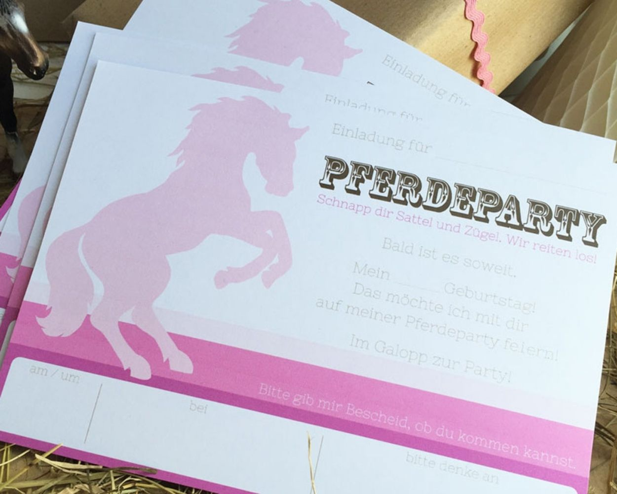 Pferdegeburtstag Kindergeburtstag Einladung