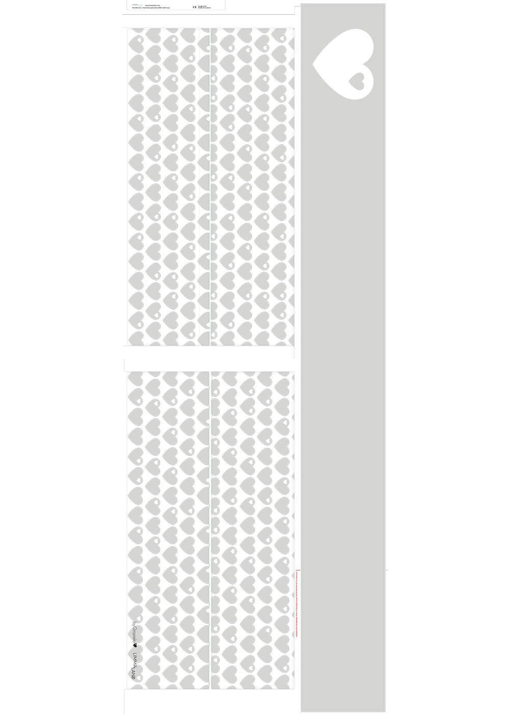 Ikea Kuras Hochbett ByGraziela Herz hellgrau  Druckvorlage