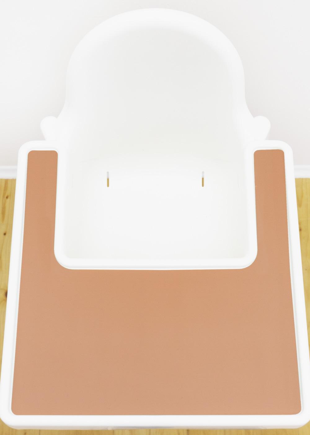 Silikonmatte Ikea Antilop Hochstuhl Klecka Mat rose Gesamtansicht Tablett