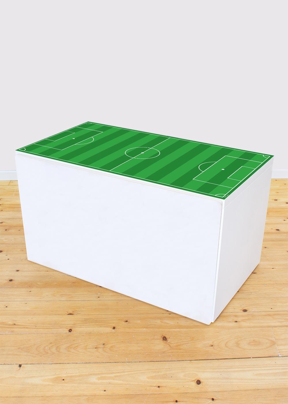 Ikea Smastad Bank Fussballfeld grün Gesamtansicht