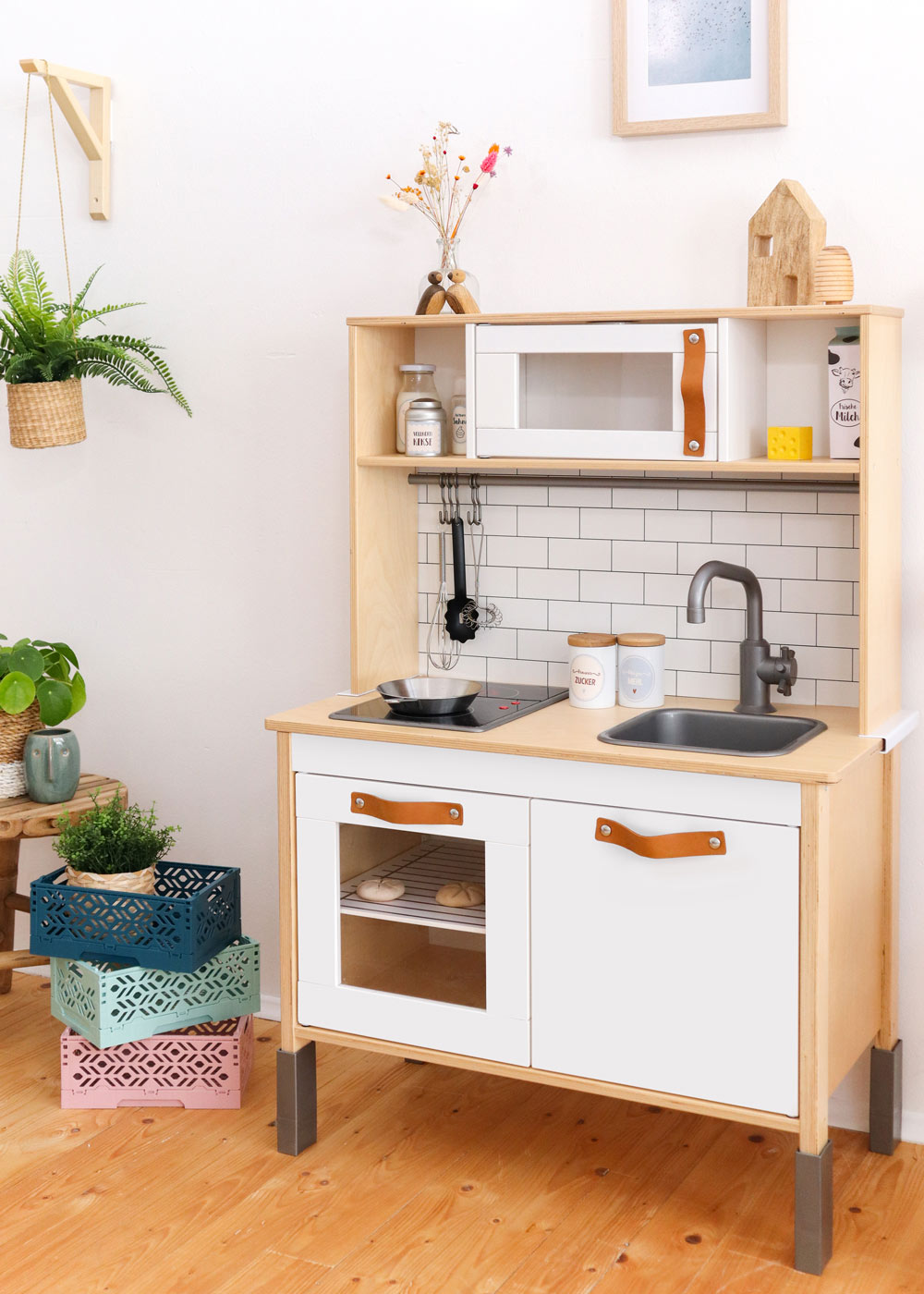 Ikea Duktig Kinderküche Kachla Metro weiss Komplettansicht