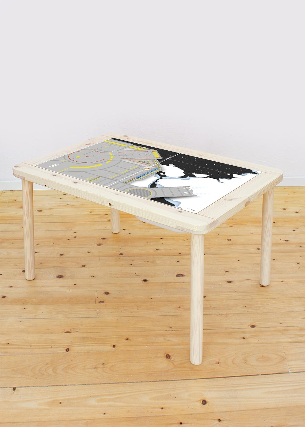 Ikea Flisat Kindertisch Weltraum Tischplatte