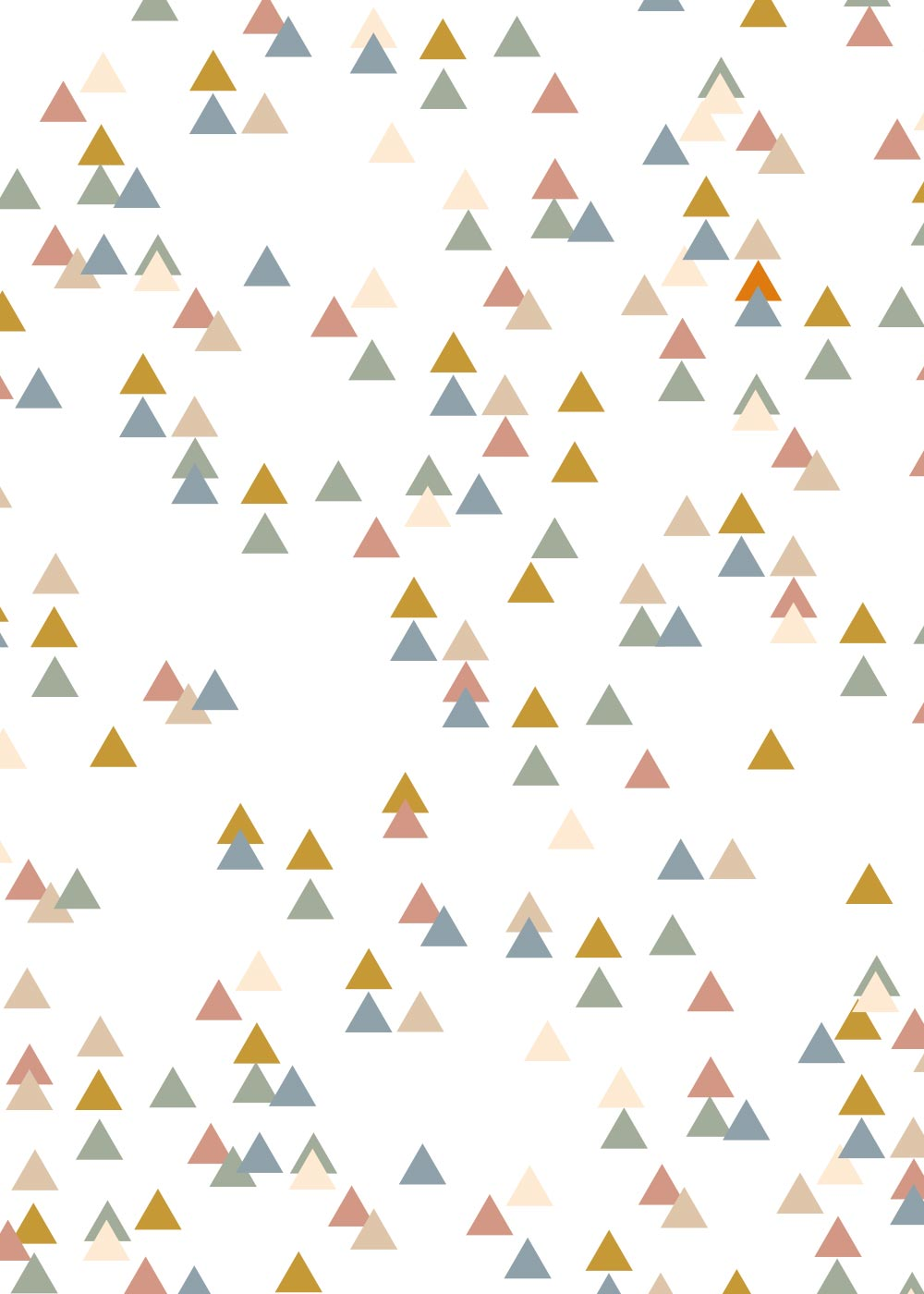Meterware Trianglig pastell