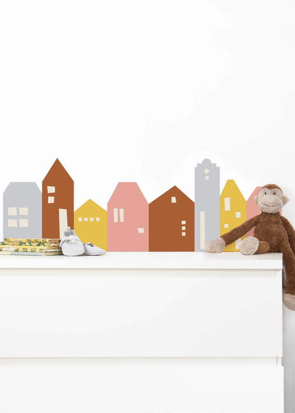 Ikea Mansarp Bilderleiste Lille Hus Eisblau Camel Gesamtansicht