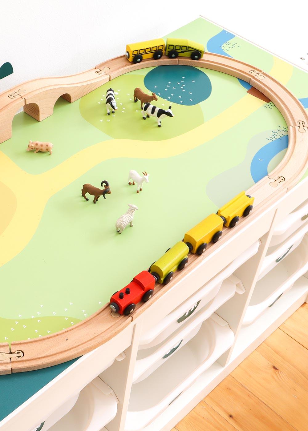 Ikea Trofast Regal Spielwiese Teilansicht