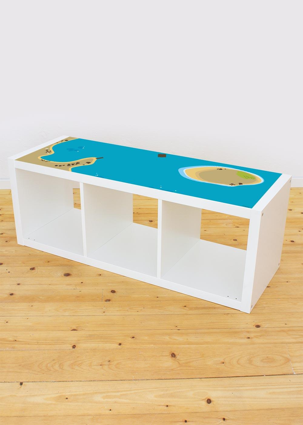 Ikea Kallax Regal Wasserreich 3fach Komplettansicht