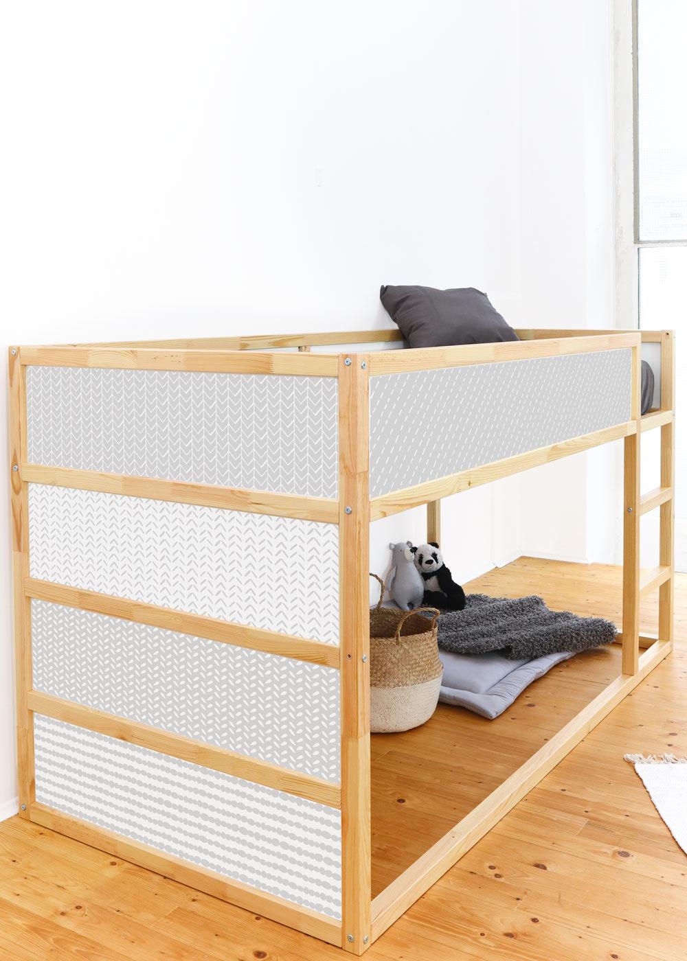 Ikea Kuras Hochbett Musta hellgrau Seitenansicht