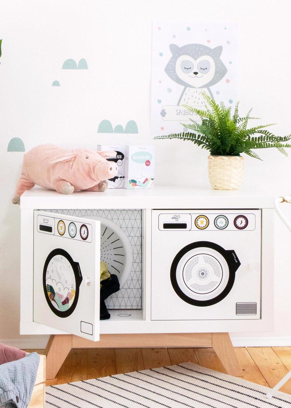 Stickerset für DIY Kinderwaschmaschine