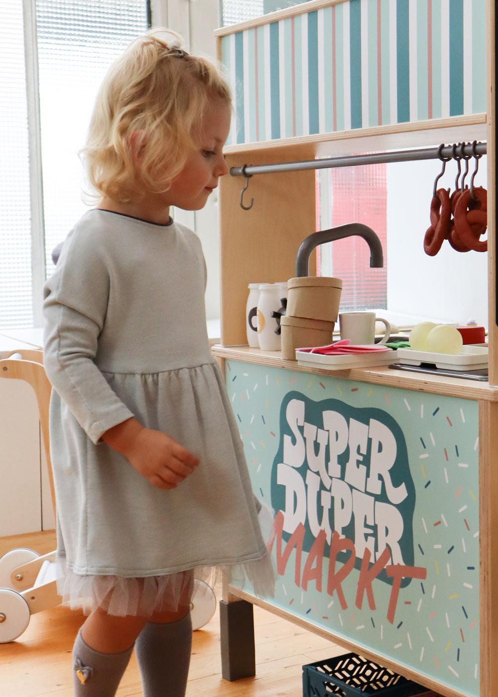 Ikea Kaufladen Duktig Kinderküche Super Duper Mint Teilansicht Kunde
