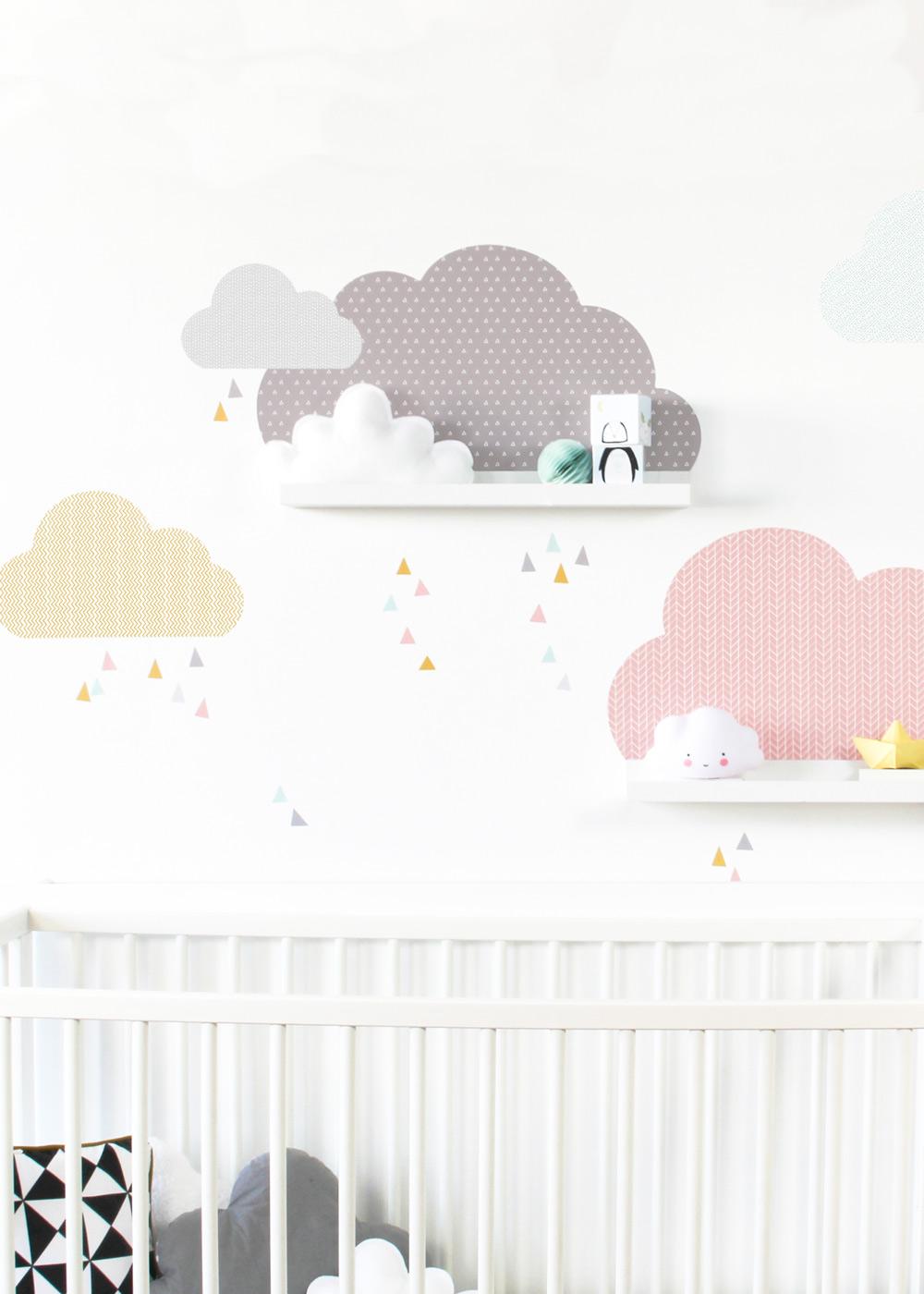 Ikea Mosslanda Bilderleiste Musta Wolken rosa taupe Komplettansicht