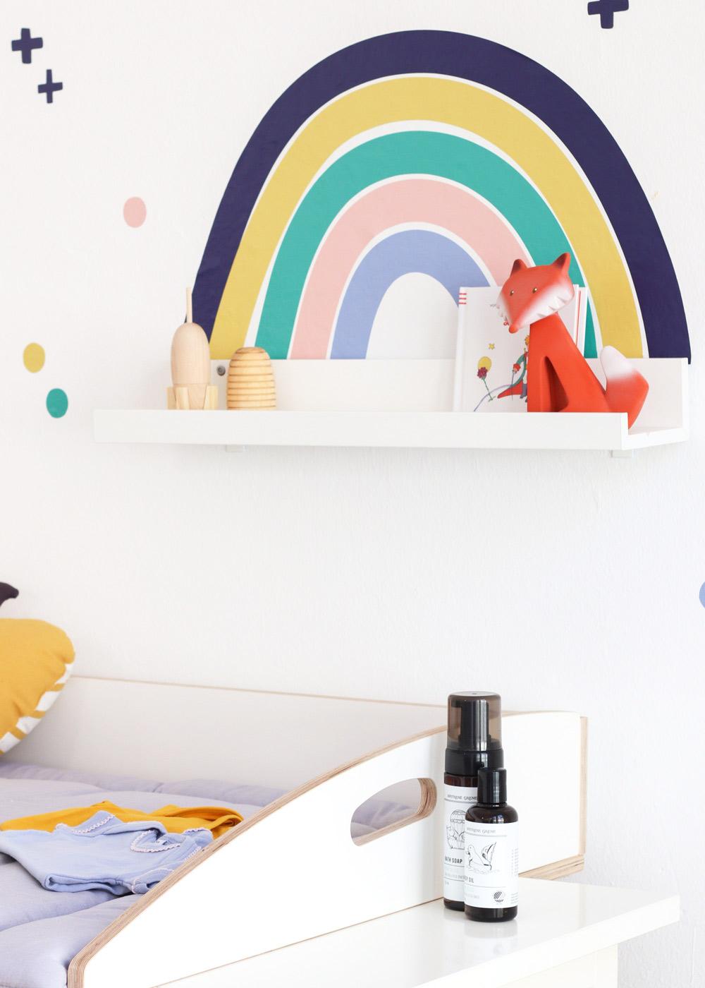 Ikea Mosslanda Bilderleiste Vielfalt Regenbogen Nachtblau Senf Teilansicht