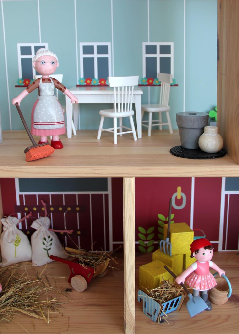 Ikea Flisat Puppenhaus Tapete Ponny Hus Teilansicht