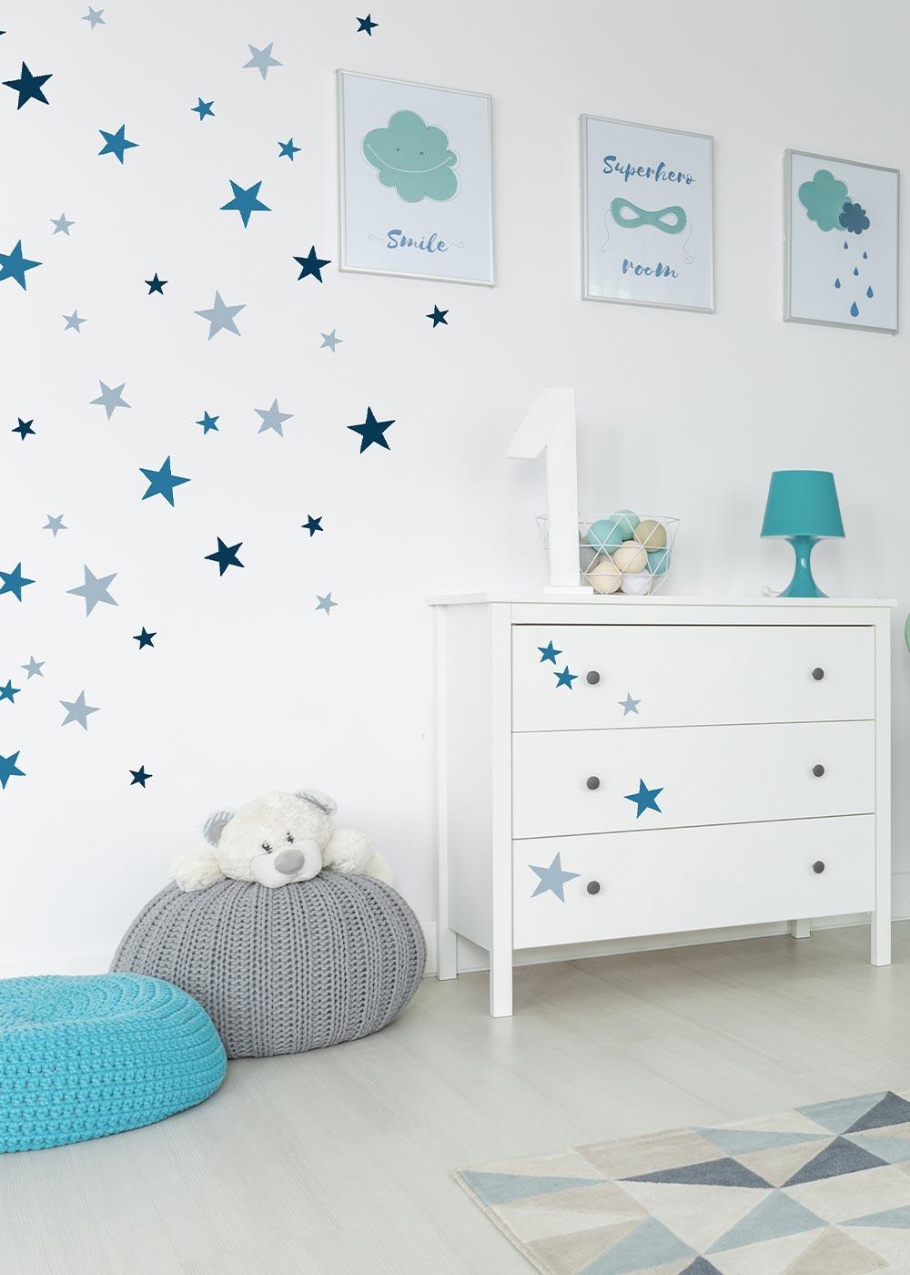 Stickerset Sterne blau