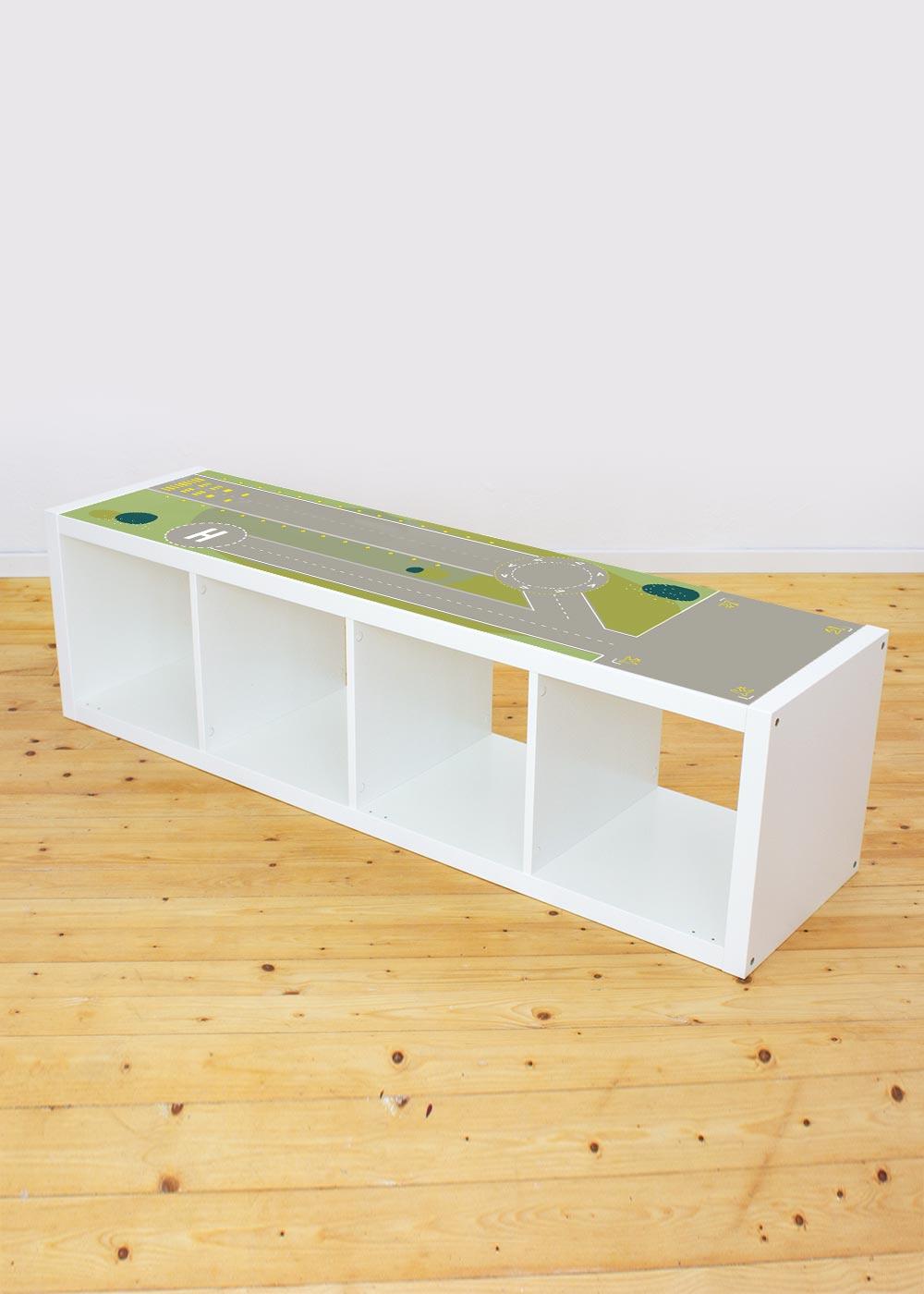 Ikea Kallax Regal Landebahn 4fach Komplettansicht