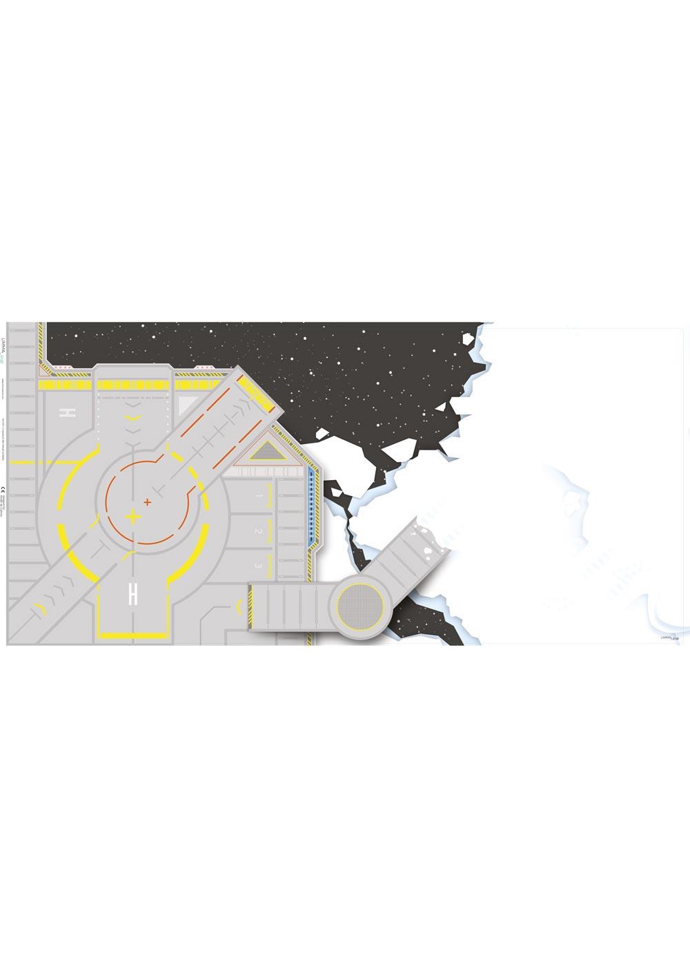 Ikea Kallax Regal Weltraum 3fach Druckvorlage